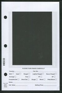 """Pack of 100 HECO Dealer Stock Card Pages #4 for 3-Ring Mini Binder 5.5"""" x 8.5"""""""