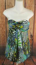 Cache Strapless Dress Size 2 Safari Jungle Print