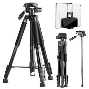 K&F Concept Kamera Stativ mit Handy Halterung,Einbeinstativ für Smartphone DSLR