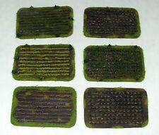 Wargaming Scenery CROPS FIELDS SET - 6 pieces - Warhammer FoW BA 15-28mm terrain