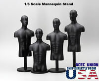 "1/6 Mannequin Stand Multi-Function BLACK For 12"" Hot Toys PHICEN Display USA"