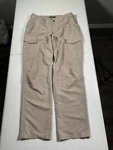 Men's 5.11 Tactical Cargo Pants Size 34W x 34L Beige Polyester