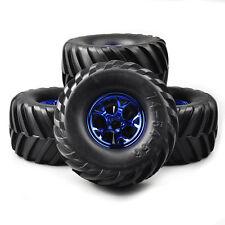 4Pcs 1:10 Bigfoot Monster Truck Tires&Wheel Rim For RC 1/10 Climbing Car Truck