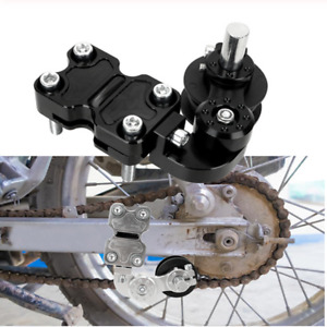 1Pcs Black Aluminum Roller Chain Adjuster Tensioner Fit For Motorcycle Dirt Pit