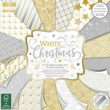 Premium Craft Cardstock First Edition 8x8 Designer Paper Pad - White Christmas