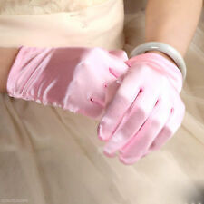New 5 Color Short Women Stain Glove Bridal Wedding Prom Driving Wrist Gloves US