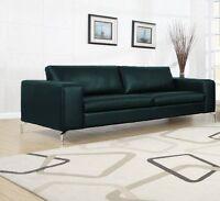 Couch Kunstleder Sofagarnitur 3er Sofa Lounge 3-Sitzer Sitzgarnitur Schwarz