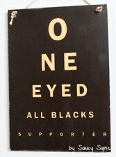 One Eyed New Zealand All Blacks Fan Rugby Sign -  Kiwi New Zealand Man Cave