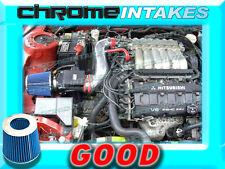 RED BLUE 91-99 MITSUBISHI 3000GT GTO/DODGE STEALTH N/T 3.0L V6 AIR INTAKE KIT