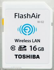 TOSHIBA 16GB WiFi SDHC Card Class 10,Toshiba Flashair Wireless LAN Card 16gb