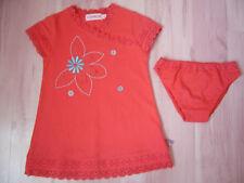 Robe rouge CLAYEUX 3 ans et bloomer assorti - comme NEUF jamais porté juste lavé