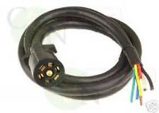Trailer Plug 7 Pin Ford Dodge Chevrolet Toyota Standard Plug with HD Cable NEW
