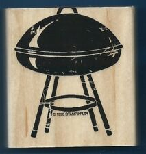 TAILGATE PARTY BBQ GRILL CHARCOAL POT Smoker 1998 STAMPIN' UP! RUBBER STAMP