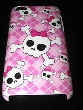 Skull Hard Cover Case for iPod Touch 4th Gen Skull and Crossbones Bow Pink case