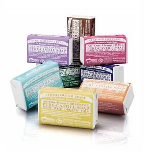 DR BRONNER`S FAIR TRADE PURE CASTILE SOAPS MADE WITH ORGANIC OIL - 2x140G BARS