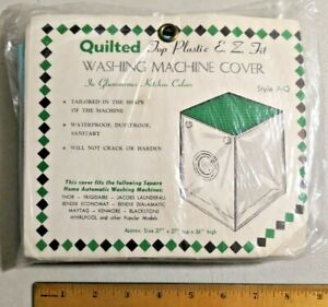 Vintage 1960s Quilted top plastic e. z. fit washing machine cover NOS -- 3758