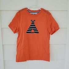 Hanna Andersson Boys Orange Short Sleeve Camping Applique T-shirt Size 140 (10)