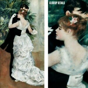 """18W""""x36H"""" DANCE IN THE CITY 1883 by PIERRE AUGUST RENOIR -BALLROOM COUPLE CANVAS"""