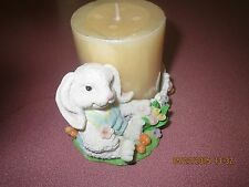 FLOPPY EARS EASTER BUNNY RABBIT CANDLE HOLDER INCLUDES NEW VANILLA CANDLE
