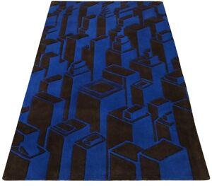 Designer Teppich 120X180 CM Handarbeit 100% Wolle Handgetuftet 3D Look