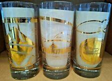 2007 LE Triple Crown 22K Gold Kentucky Derby Preakness Belmont Glass Set COA MIB