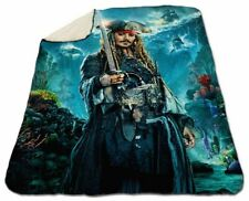 "Johnny Depp Winter Blanket 60""x 80"" Queen Size NEW Warm Pirates Of The Caribbean"