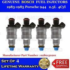 SET OF 4 *Best Upgrade* Fuel Injectors For 83-85 Porsche 944 2.5L  #0280150201