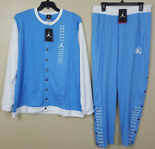 NIKE JORDAN XI RETRO 11 SUIT JACKET + PANTS UNC CAROLINA BLUE QS RARE (SIZE 2XL)