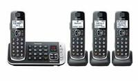 Panasonic - KX-TGE674B DECT 6.0 Expandable Cordless Phone System with Digital