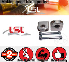 LSL Bar Riser / Handlebar Clamp - Silver for Suzuki GS