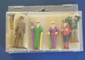 "VINTAGE EUROPEAN 3"" PLASTIC FIGURINES MILITARY-HIKING-SKIING PAIRS NICE COND."
