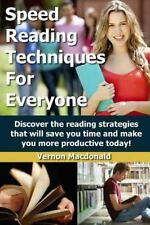 Study Skills Made Easy: Speed Reading Techniques for Everyone! : Discover the...