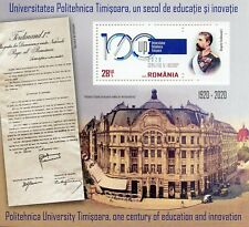 Romania Architecture Stamps 2020 MNH Politehnica University Timisoara 1v M/S