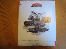 Henderson Ice Spreader Series Operator & Parts Manual FSH 84960 7/99