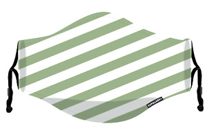 SUPALABS DEFEND Adult Face Mask Premium Covering 5 layers of protection G Stripe