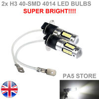 2x H3 40-SMD 4014 LED Bulbs XENON White 6000K -Car Fog Light Lamp 12V Quality UK