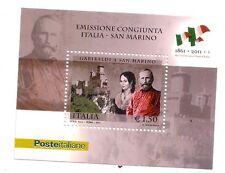 Foglietto Italia  Garibaldi a San Marino 2011   Emissione Congiunta