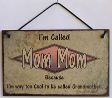 Mom Mom s Sign Retro Grandma Vintage Best Cool Mother Day Parent Gift Decor #1