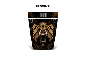 Hood WrapGraphic Sticker Flag Decal for Jeep Wrangler 1999-2006 GRIZZLY