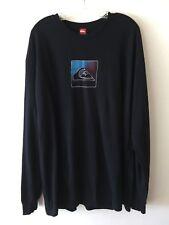 Quiksilver Long Sleeve Logo Tee Shirt Black Men's XXL NWOT