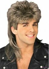 Mens Retro 70s 80s Disco Mullet Wig Fancy Party Accessory Cosplay Wigs Synthetic