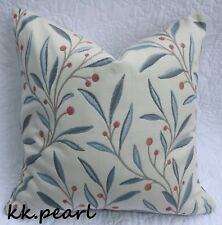 * John Lewis GUELDER Retro & Vintage Cushion Cover Made in  Berry Fabric 18""