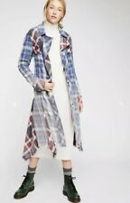 NEW Free People Swing Plaid Shirt Jacket Size Small Duster