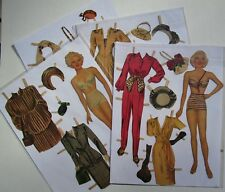 Vintage Paper Dolls - Lana Turner - 2 dolls w/glamorous clothes - pre-cut