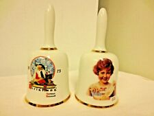 "Lot 2 Dave Grossman Designs Norman Rockwell 6"" Bells-1st Editions-1975 & 1976"