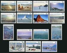 Australian AT L60-L74,MNH. Antarctic views 1984-1987.Dog tem,Penguins,Mounts