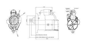 Starter Motor TYC 1-17801
