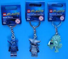3 LEGO ATLANTIS KEYCHAINS - 852775 Manta - 853085 Hammerhead - 853086 Barracuda