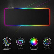 Gaming Mauspad LED RGB Beleuchtung Anti-Rutsch XXL Mousepad Maus Pad 800*300mm