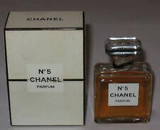 Vintage Perfume Bottle Chanel No 5 Bottle/Box 15 ML/1/2 OZ - Open - 3/4 Full